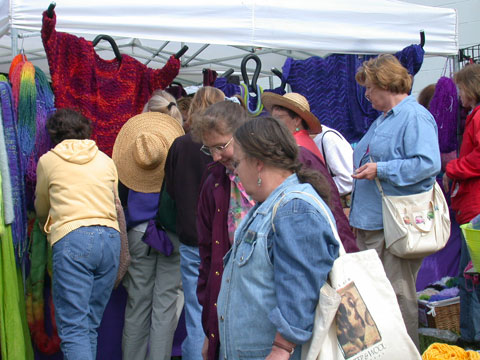 festival shoppers